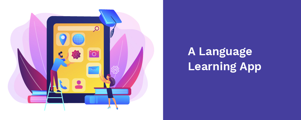 a language learning app