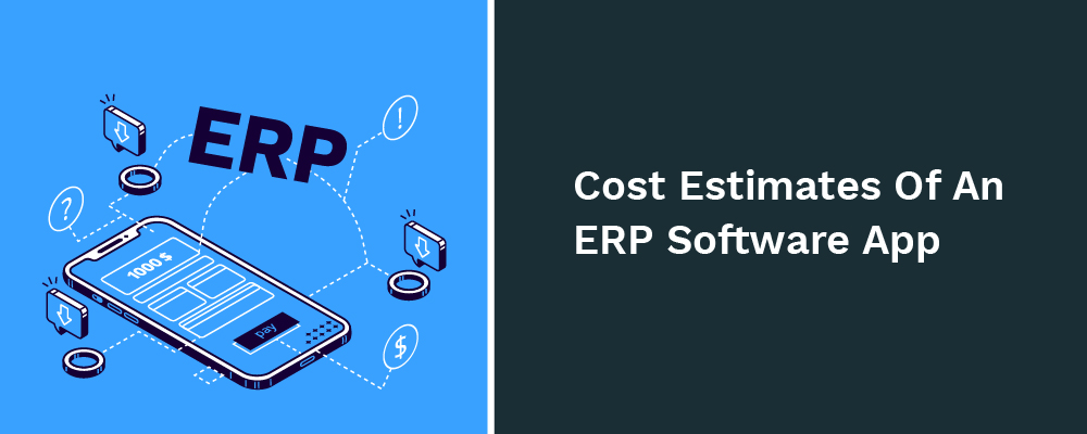 cost estimates of an erp software app
