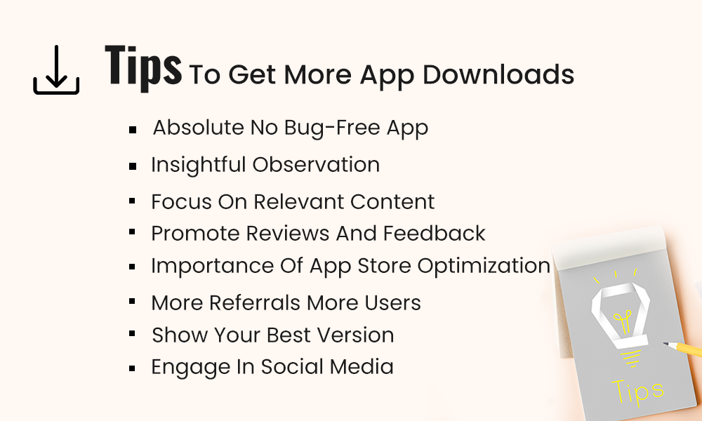 tips to get more app downloads