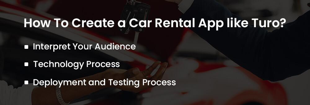 create a car rental app like turo